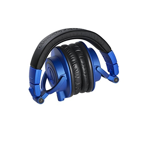 Audio-Technica ATH-M50xBB Limited Edition Professional Studio Monitor Headphones, Blue