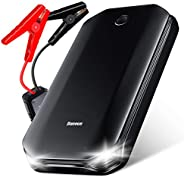 Carregador de bateria portátil para carro, iniciador de salto, Baseus 800A Peak Auto Jump Box (até 4L Gas ou m