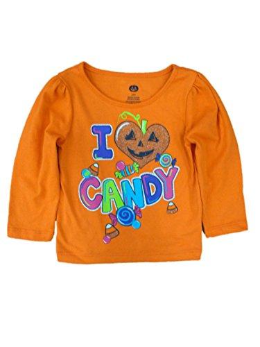 Happy Halloween Infant Toddler Girls I Love Candy T-shirt Pumpkin Tee Shirt 12m (Walmart Halloween Candy)
