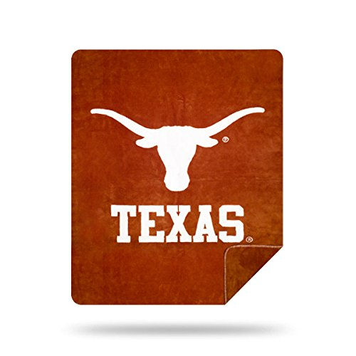 Officially Licensed NCAA University of Texas Denali Sliver Knit Throw Blanket, 60