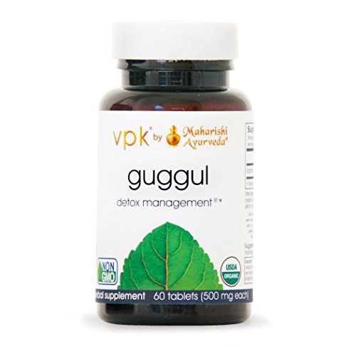 500 Mg 60 Tablets - Organic Guggul - Kulreet Chaudhary The Prime | 60 Herbal Tablets - 500 mg ea. | Rejuvenate & Cleanse the Lymph System | Strengthens Joint Mobility | Liver Detox