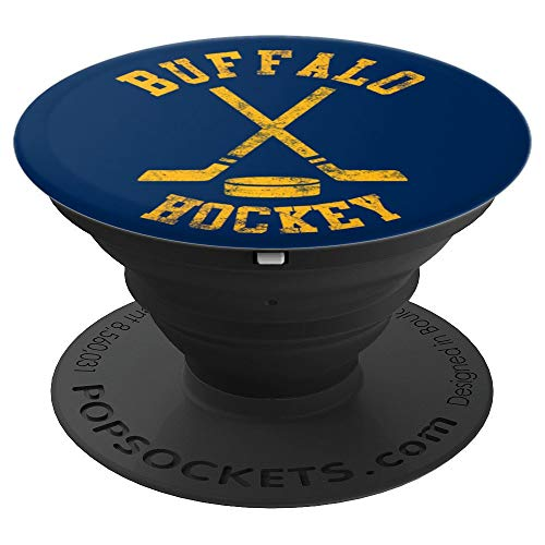 Vintage Buffalo Hockey - PopSockets Grip and Stand for Phones and Tablets
