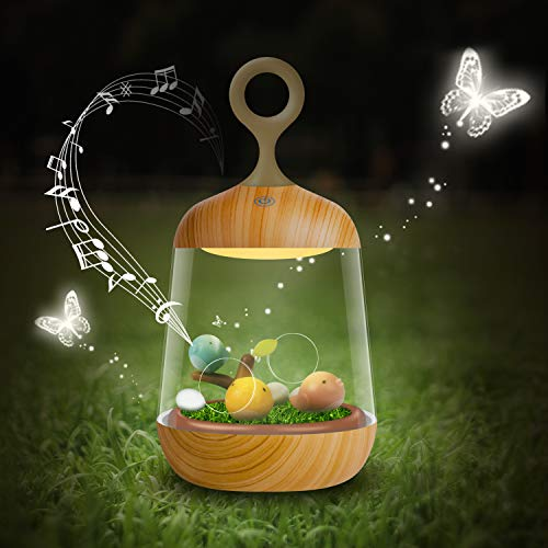 (Cute Birdcage Color Changing Night Light with Timer, Music Box Decorative Lamp Wedding Christmas Birthday Gifts for Kids, Mother, Lover)