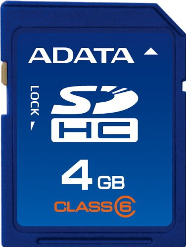 ADATA 4GB Class 6 SDHC Flash Memory Card (6mb Flash Memory Card)