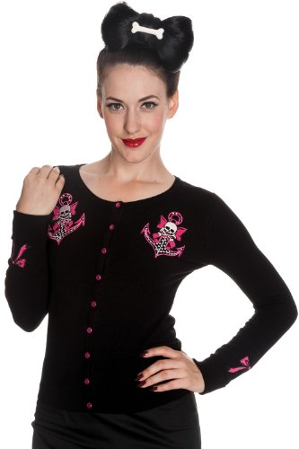 Hell-Bunny-Rockabilly-Pinup-Anchor-and-Skull-with-Pink-Bow-Cardigan
