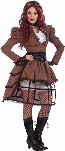 FORUM Steampunk Vickie Complete Costume, Brown, One Size