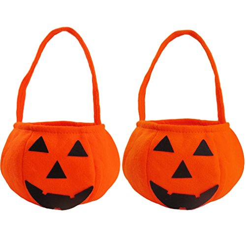 Imiflow Halloween Pumpkin Bag Toddler Kids Costumes Candy Bag Handbag for -