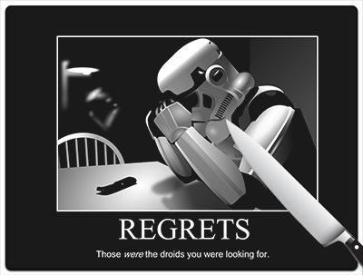 Star Wars Stormtrooper Regrets Large Cutting Board