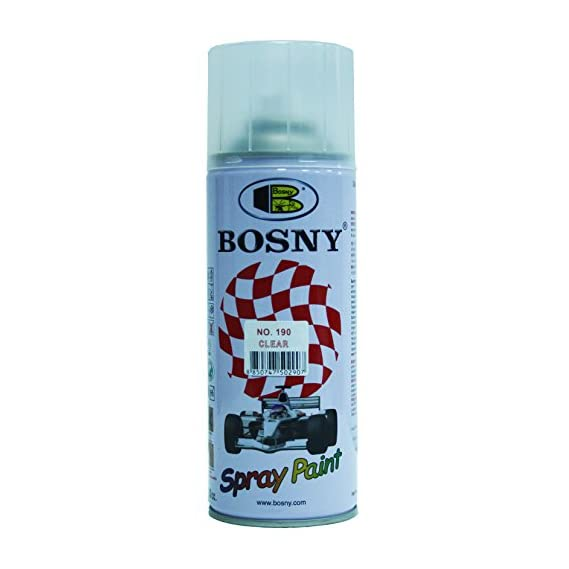 Bosny Aerosol Spray Paint (400 ml, Clear Lacquer Glossy)