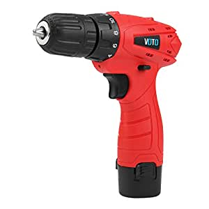 VOTO 12V Two Lithium-ion Batteries Cordless Electric Drill Driver Set 1.5Ahx2 10mm Chuck Power Tool