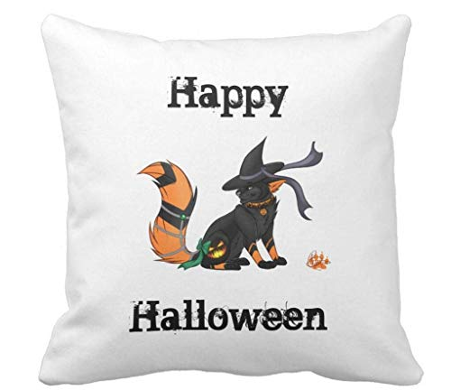(HERSTER Halloween,Reversible,Pillow,Original,Poem,Text Throw Pillow Case Cushion Cover)