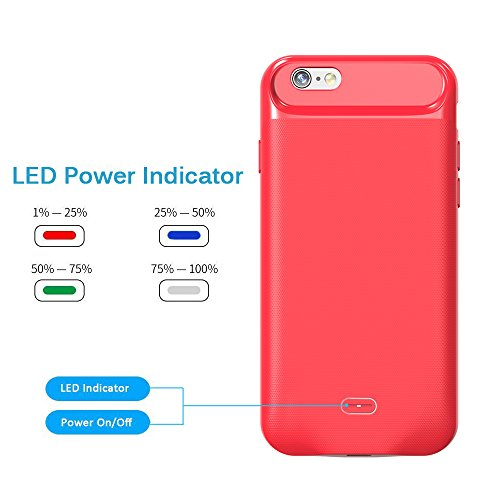 promo code 56660 3f40d iPhone 6 Plus Battery Case Soconic 3700mAh Slim Portable External ...