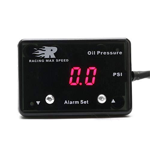 Nero Indicatore di pressione olio per auto CNSPEED 0~8 BAR Sensore per misuratore di pressione olio per auto diesel digitale 12V Universal Turbo Diesel Digital