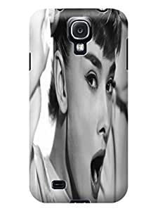 Lovely Audrey Hepburn fashionable Lightweight Waterproof Hard Phone Shell Case for Samsung Galaxy s4