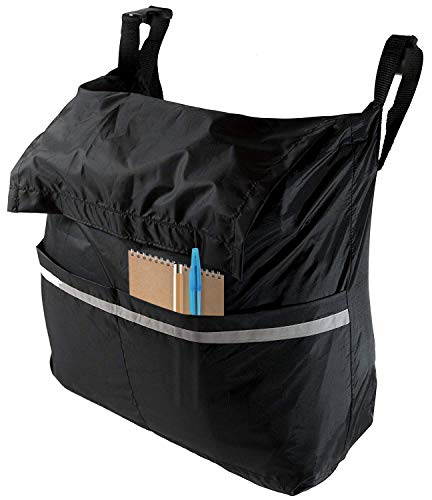Wheelchair Bag for Back of Chair - Accessory Carry Pouch for Storage of Personal Accessories and Essential Items - Lightweight and Large Expanding Design for Wheel Chair Travel Back
