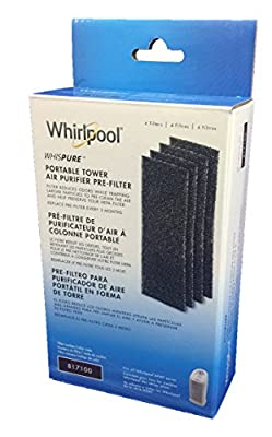 Whirlpool 817100 Charcoal Pre-Filters (Portable Tower) (4 Pack)
