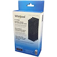 Whirlpool 817100, 4-Pack, 1-Full Year Supply Charcoal Carbon Pre-Filters For Portable Tower Model APMT2001M, 3.9x11 inch