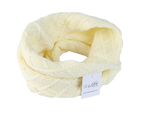 Midlee Cream Knit Infinity Scarf for Dogs (Large)