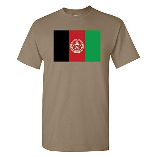 UGP Campus Apparel Afghanistan Flag Basic Cotton T-Shirt - X-Large - White