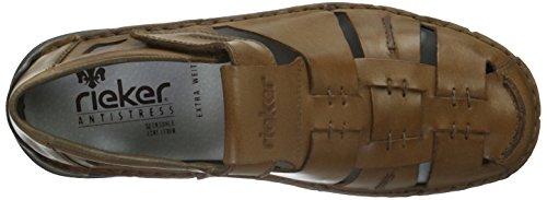 Rieker - Mocasines de cuero para hombre Marrón (Toffee/zimt / 26)