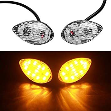 2x Smoke LED Turn Signal Blinker Marker 12V For Honda CBR600F4 CBR600RR