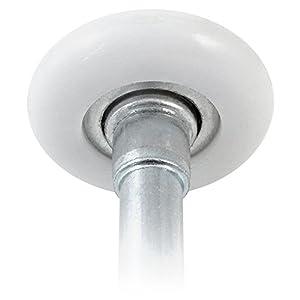 """Ideal Security SK7123 Premium Garage Door Rollers, 2 inch Nylon & Steel Wheels, 10 Ball-Bearings, 4"""" stem, 10-pack"""