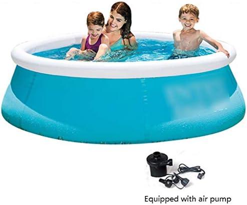 インフレータブルプール プール/ラウンドインフレータブルプール 子供の屋内プールパドリング 夏の屋外スイミングプール (Color : Blue, Size : 183*51cm)