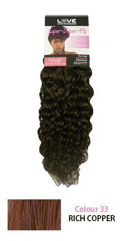 "Super Duper Fly 9"" Spiral Weft 100% Human Hair (Weave) 33 Rich Copper"