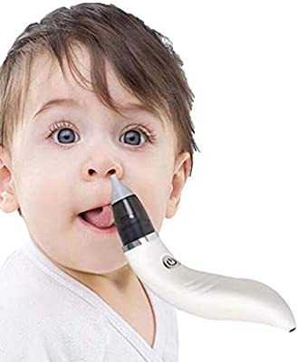 Aspirador Nasal Bebe Electrico, 5 Niveles de Succión, 2 Puntas de Silicona, Carga USB, Reutilizable Impermeable, Bomba Nasal, Seguro e Higiénico,White: Amazon.es: Salud y cuidado personal