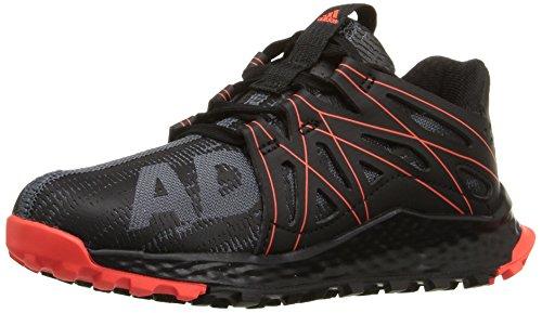 adidas Performance Boys' Vigor Bounce c Trail Runner, Dark Grey/Black/Infrared, 10.5 M US Little Kid
