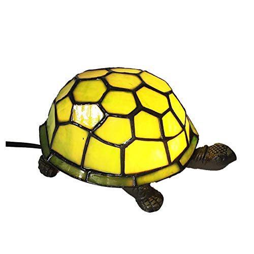 Tiffany Tortoise Night Light HMJ8049 Stained Glass Green Turtle Table lamp-Robert Louis Tiffany (Lamp Glass Turtle Stained)
