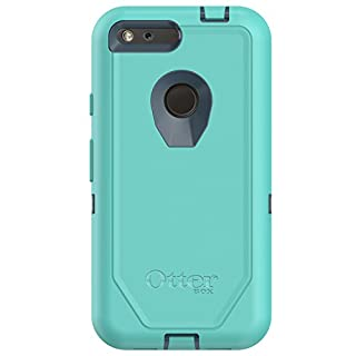 "OtterBox Defender Series Case for Google Pixel XL (5.5"" Version ONLY) - Frustration Free Packaging - Borealis (TEMPTEST Blue/Aqua Mint)"