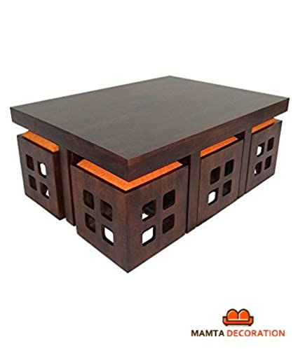 Mamta Decoration Sheesham Wood Center Table For Living Room Coffee