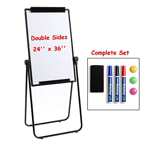 Marble Field 24'' x 36'' Double Sided Magnetic U-Stand Whiteboard/Flipchart Easel, Dry Erase Boards Height Adjustable Foldable U Stand Easel