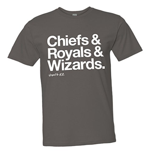 (Mens/Unisex Loyal Chiefs Royals Wizards Sports Ball Tee CHRCL-S)