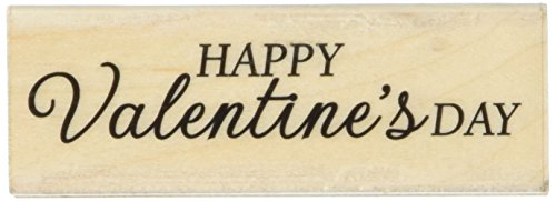 Happy Valentines Day Rubber Stamp (Hero Arts Happy Valentine's Day Mounted Rubber Stamp, 2.75