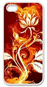 Iphone 5 5s PC Hard Shell Case Flower Fire White Skin by Sallylotus