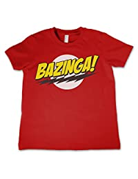 Officially Licensed Bazinga Super Logo Unisex Kids T Shirts Ages 3-12 Years