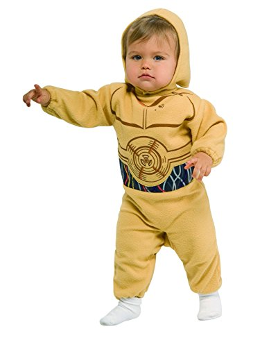 Star Wars Romper And Headpiece C-3Po, C-3PO Print, 1-2 Years
