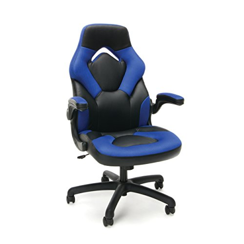 41jqu7IOJLL - Essentials-Racing-Style-Leather-Gaming-Chair-Ergonomic-Swivel-Computer-Office-or-Gaming-Chair-Green-ESS-3085-BLU