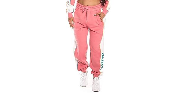 GRIMEY PANTALÓN Hazy Sun Velour Sweatpant FW18 Pink-L: Amazon.es ...