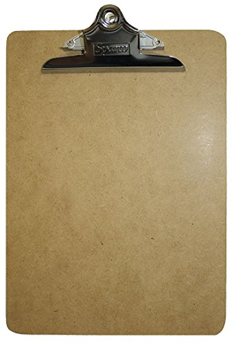 Magnetic Message Clip - Magnetic Clipboard, Letter, Hardboard, Tan