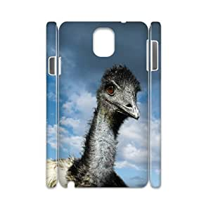 3D Samsung Galaxy Note 3 Cases Funny Ostriches, Vety, [White]