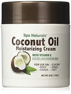 Spa Naturals Coconut Oil Moisturizing Cream with Vitamin E,6 oz.