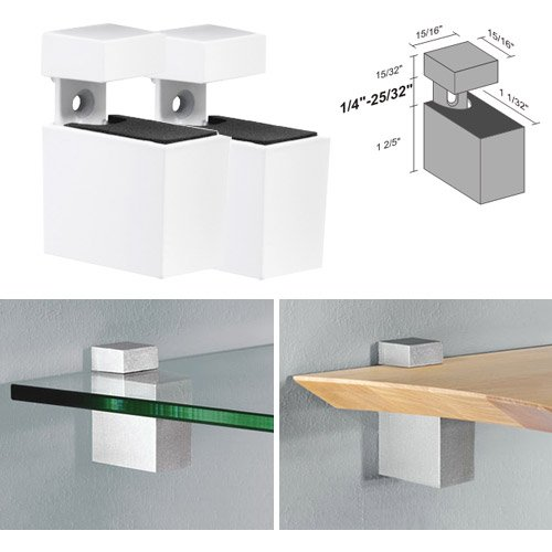 Dolle Cuadro White Adjustable Shelf Brackets for up to 3/4