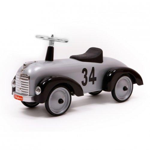 Baghera 870 - Speedster-Rutscher aus Metall, silber, 75x 25x37 cm, 1 - 3 Jahre, Rutschauto