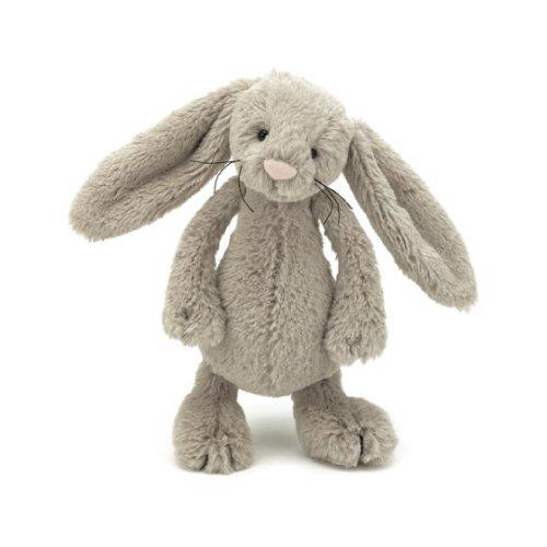 "Jellycat Bashful Beige Bunny Small 7"""