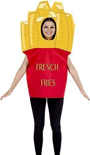 Adulto Hombre Mujer patatas fritas Fast food Comedia Divertido ...