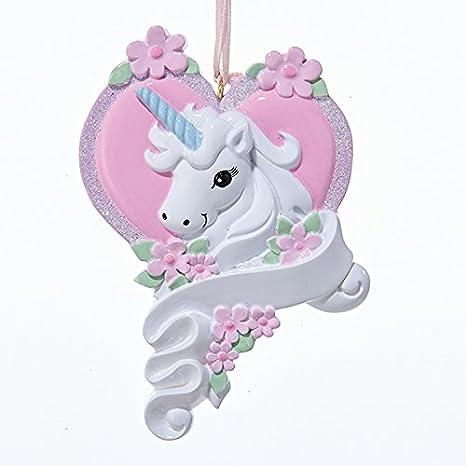 Amazon.com: Unicornio Caballo de color blanco con corazón ...