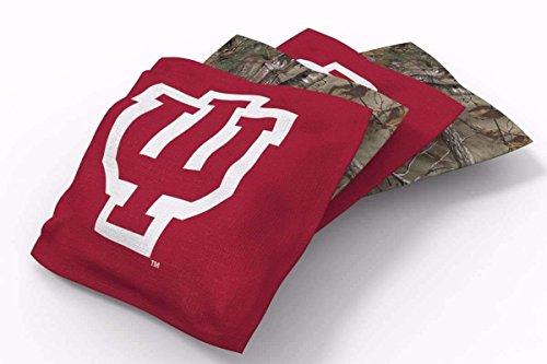 - PROLINE 6x6 NCAA College Indiana Hoosiers Cornhole Bean Bags - Real Tree Design (A)